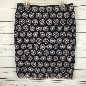 Ann Taylor Embroidered Eyelet Skirt, Size 10